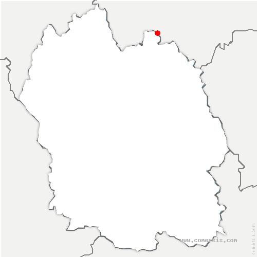 carte de localisation de Bel-Air-Val-d'Ance