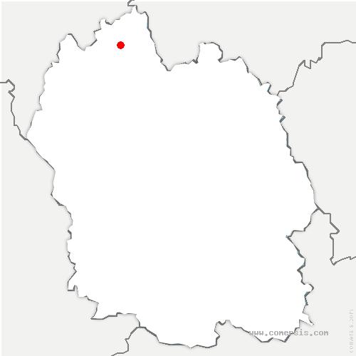 carte de localisation de Blavignac