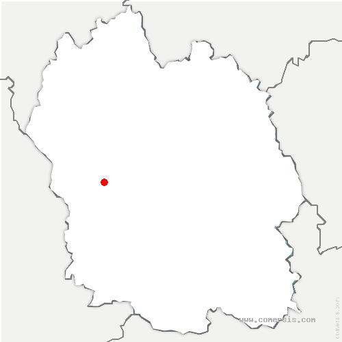 carte de localisation de Bourgs-sur-Colagne