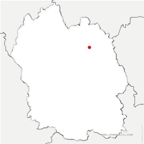 carte de localisation de Châteauneuf-de-Randon
