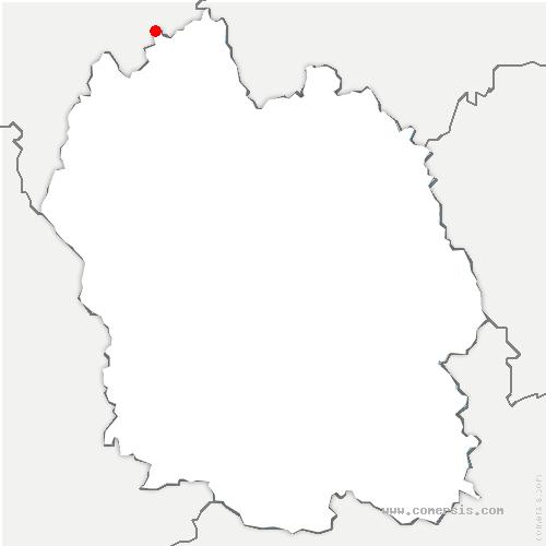 carte de localisation de Chaulhac