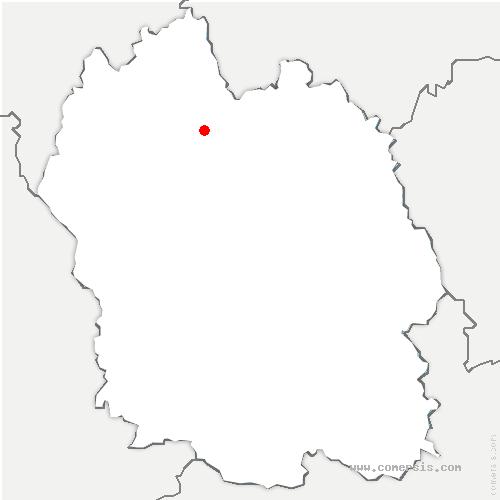 carte de localisation de Fontans