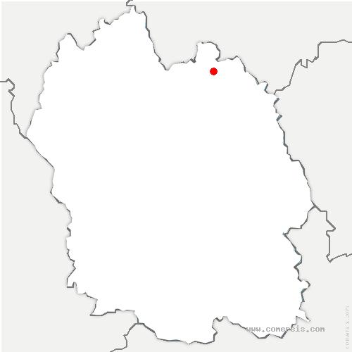 carte de localisation de Grandrieu
