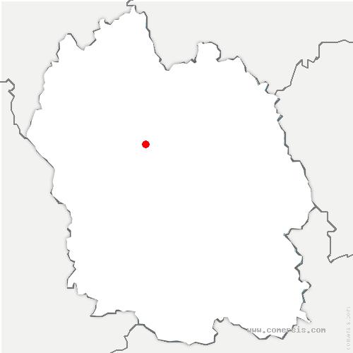 carte de localisation de Lachamp-Ribennes