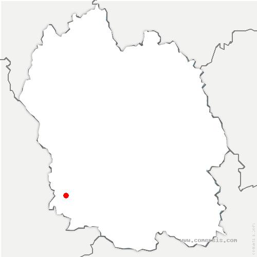 carte de localisation de Massegros Causses Gorges
