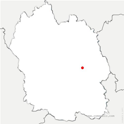 carte de localisation de Mont Lozère et Goulet