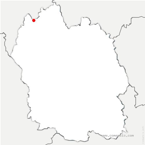 carte de localisation de Monts-Verts