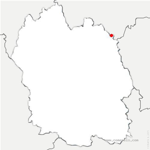 carte de localisation de Naussac-Fontanes