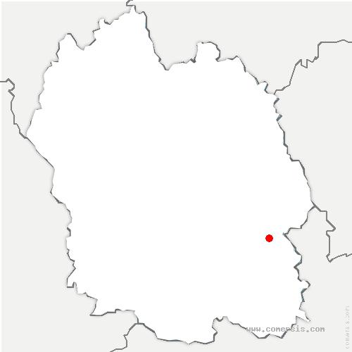 carte de localisation de Pont-de-Montvert-Sud-Mont-Lozère