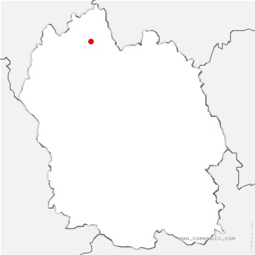 carte de localisation de Prunières