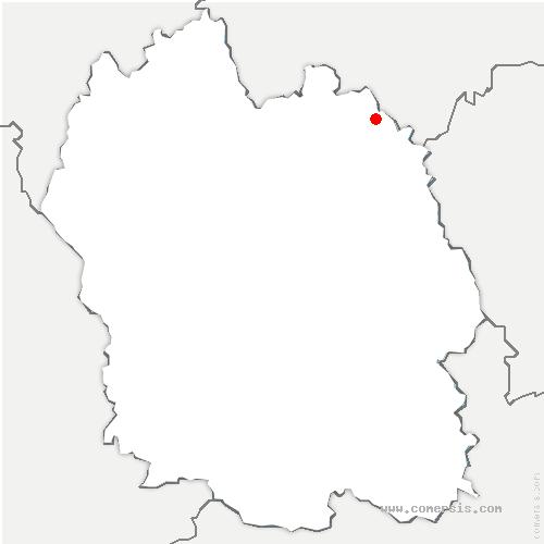 carte de localisation de Saint-Bonnet-Laval