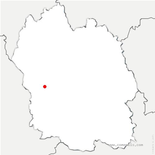 carte de localisation de Saint-Bonnet-de-Chirac