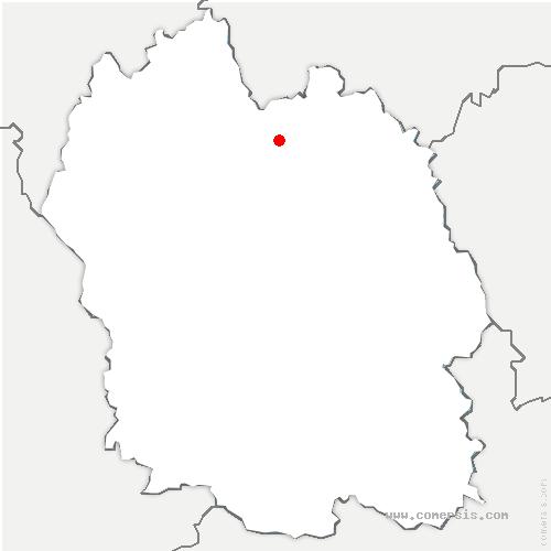 carte de localisation de Saint-Denis-en-Margeride