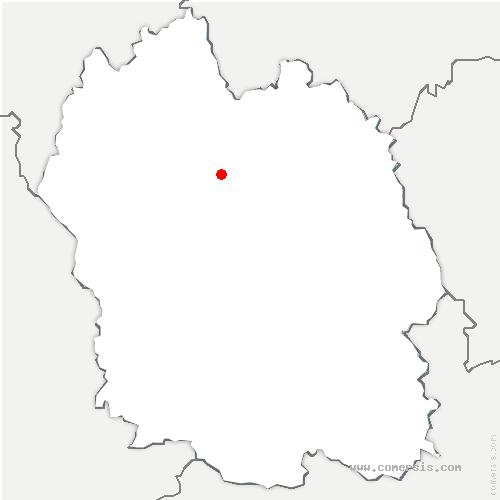 carte de localisation de Saint-Gal