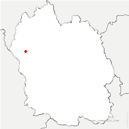 carte de localisation de Saint-Laurent-de-Muret