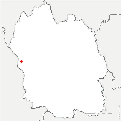 carte de localisation de Saint-Pierre-de-Nogaret