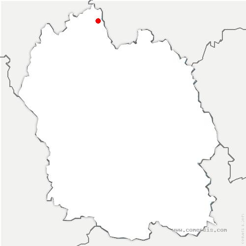 carte de localisation de Saint-Privat-du-Fau