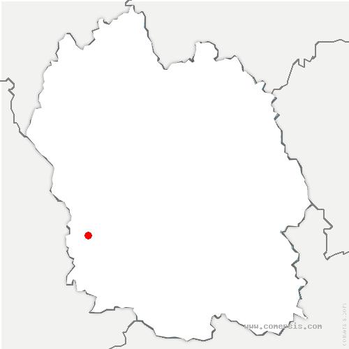 carte de localisation de Saint-Saturnin