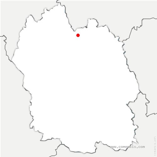 carte de localisation de Sainte-Eulalie