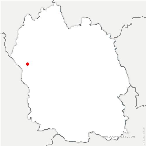 carte de localisation de Salces