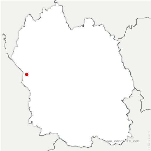 carte de localisation de Trélans
