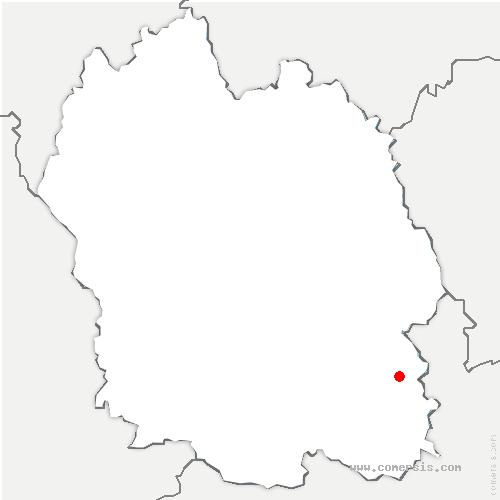 carte de localisation de Ventalon-en-Cévennes