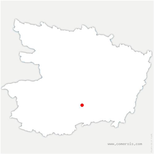 carte de localisation de Aubigné-sur-Layon