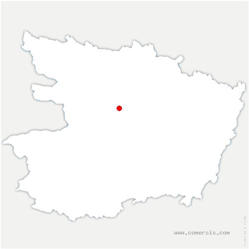 carte de localisation de Avrillé