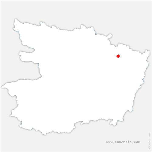 carte de localisation de Baugé