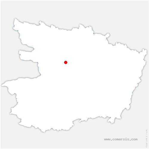 carte de localisation de Beaucouzé