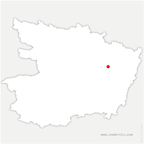 carte de localisation de Beaufort-en-Anjou