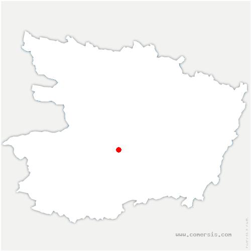 carte de localisation de Beaulieu-sur-Layon