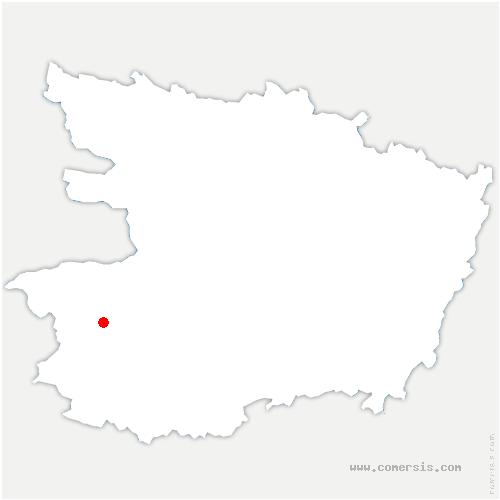 carte de localisation de Beaupréau-en-Mauges