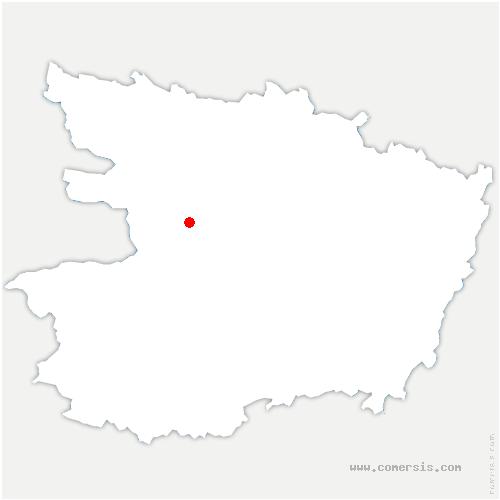 carte de localisation de Bécon-les-Granits