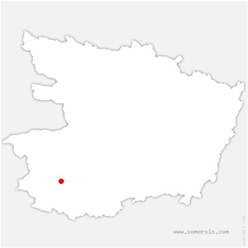 carte de localisation de Bégrolles-en-Mauges