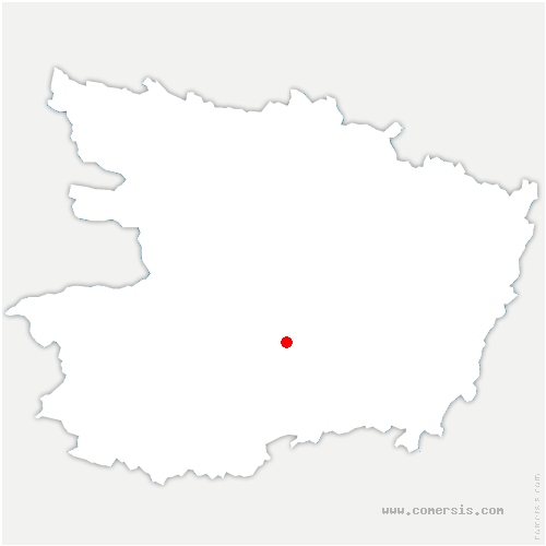 carte de localisation de Bellevigne-en-Layon