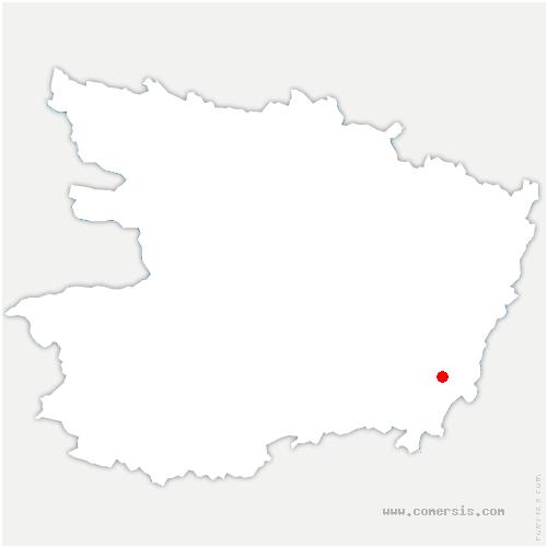 carte de localisation de Bellevigne-les-Châteaux