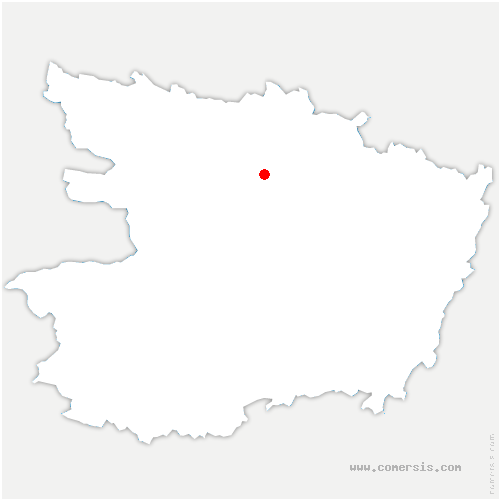carte de localisation de Briollay