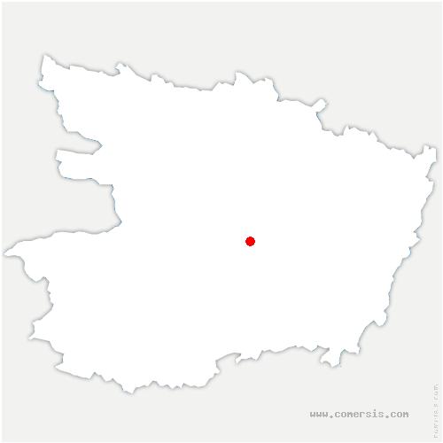 carte de localisation de Brissac Loire Aubance