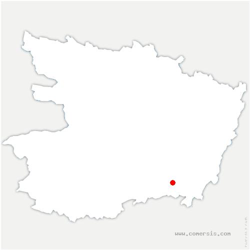 carte de localisation de Brossay