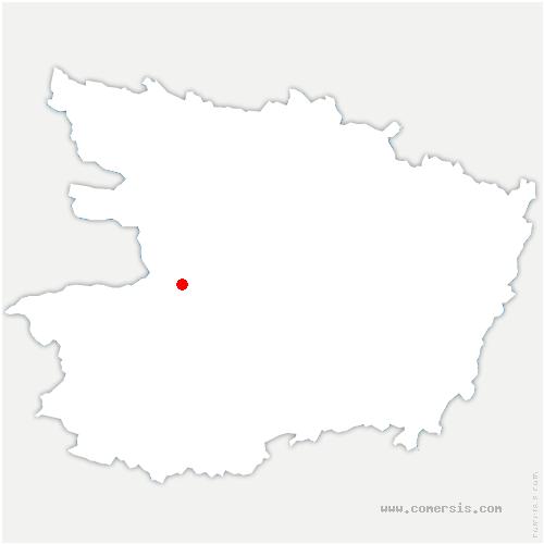 carte de localisation de Chalonnes-sur-Loire