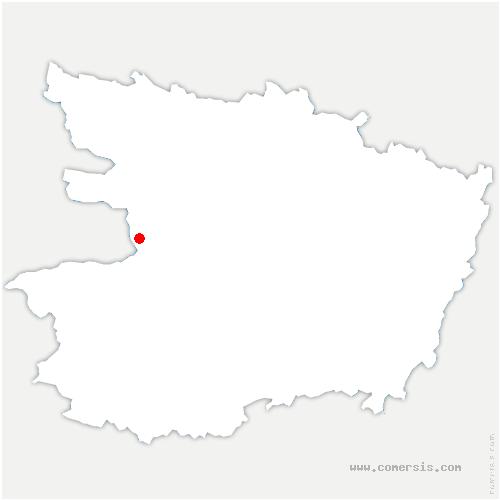 carte de localisation de Champtocé-sur-Loire