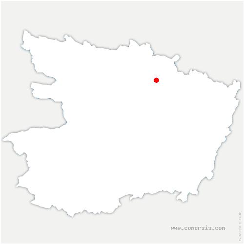 carte de localisation de Chapelle-Saint-Laud