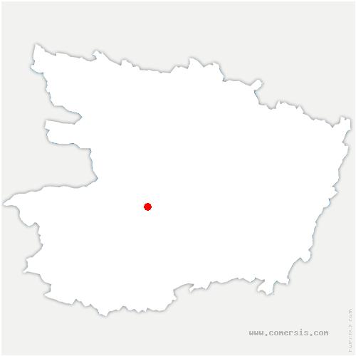 carte de localisation de Chaudefonds-sur-Layon