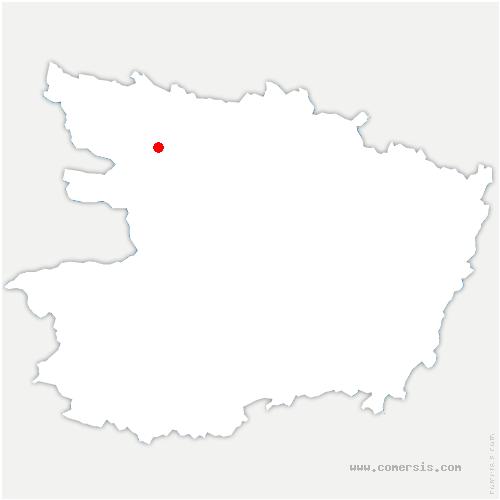 carte de localisation de Chazé-sur-Argos