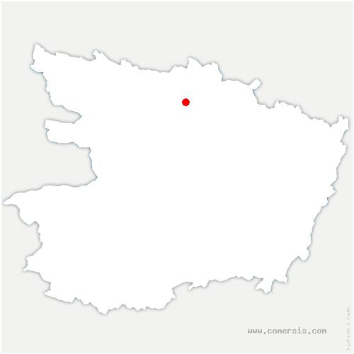 carte de localisation de Cheffes