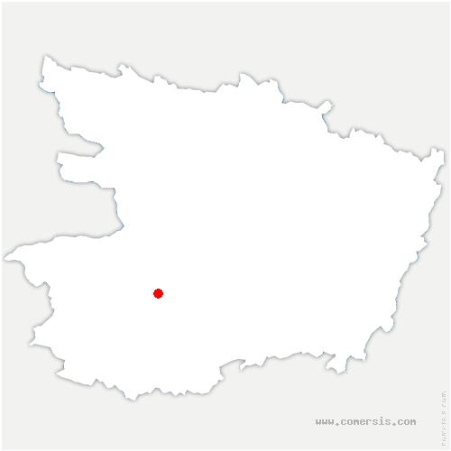 carte de localisation de Chemillé en Anjou