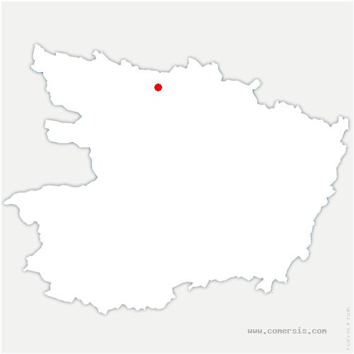 carte de localisation de Chenillé-Champteussé