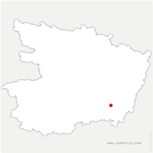 carte de localisation de Cizay-la-Madeleine