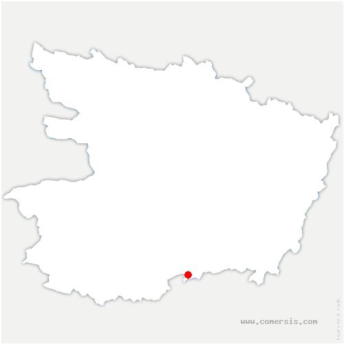 carte de localisation de Cléré-sur-Layon